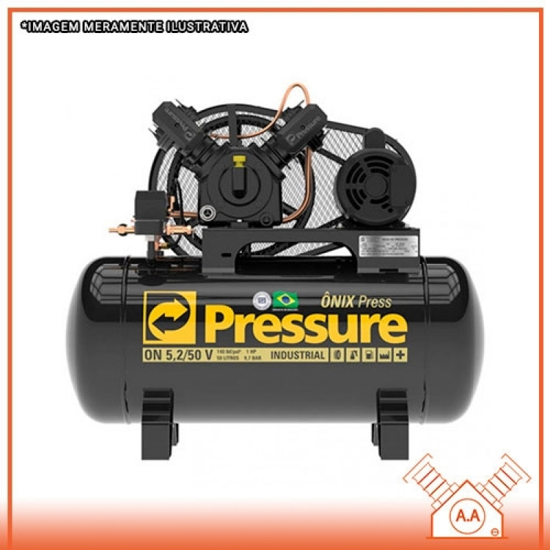 Compressor de Ar 2 Pistão Santo André - Compressor de Pistão Industrial