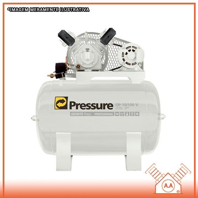Compressor Odontológico 100 Litros Guarujá - Compressor Odontológico a óleo