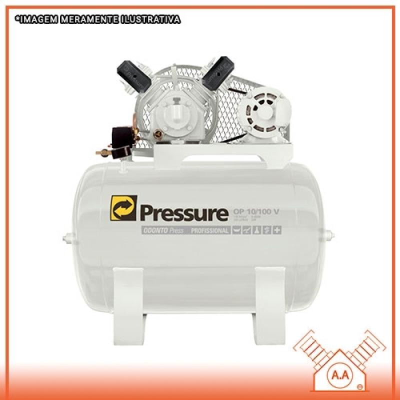 Compressor Odontológico 120 Litros Ilha Comprida - Compressor Odontológico 120 Litros