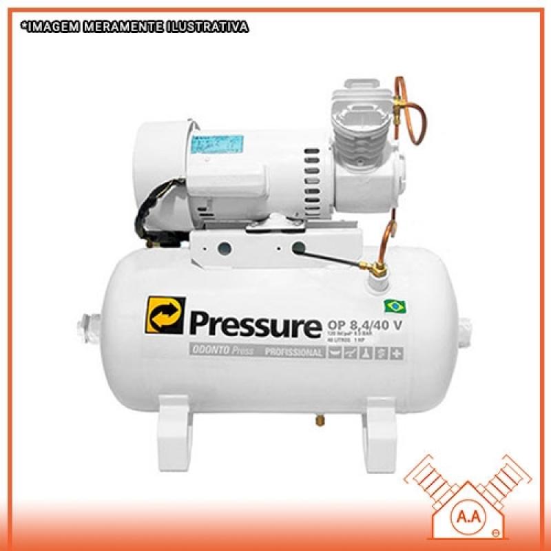 Compressor Odontológico 1hp Preço Mogi das Cruzes - Compressor Odontológico 50 Litros