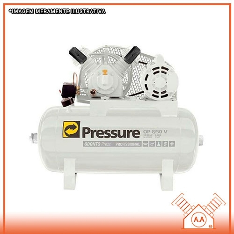Compressor Odontológico 50 Litros Ilha Comprida - Compressor Odontológico para 2 Consultórios