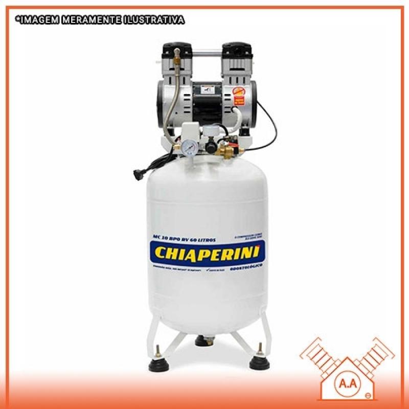 Compressor Odontológico 60 Litros Preço Cananéia - Compressor Odontológico a Seco