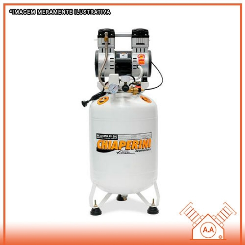Compressor Odontológico 60 Litros Mogi das Cruzes - Compressor Odontológico 50 Litros
