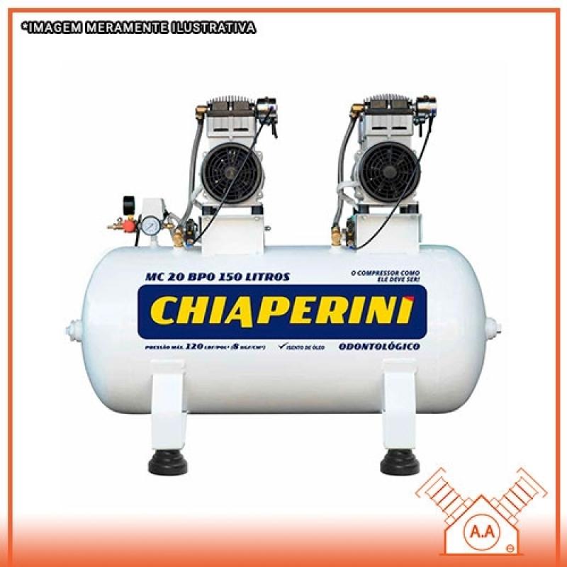 Confeccionar Compressor Odontológico 120 Litros Praia Grande - Compressor Odontológico a óleo