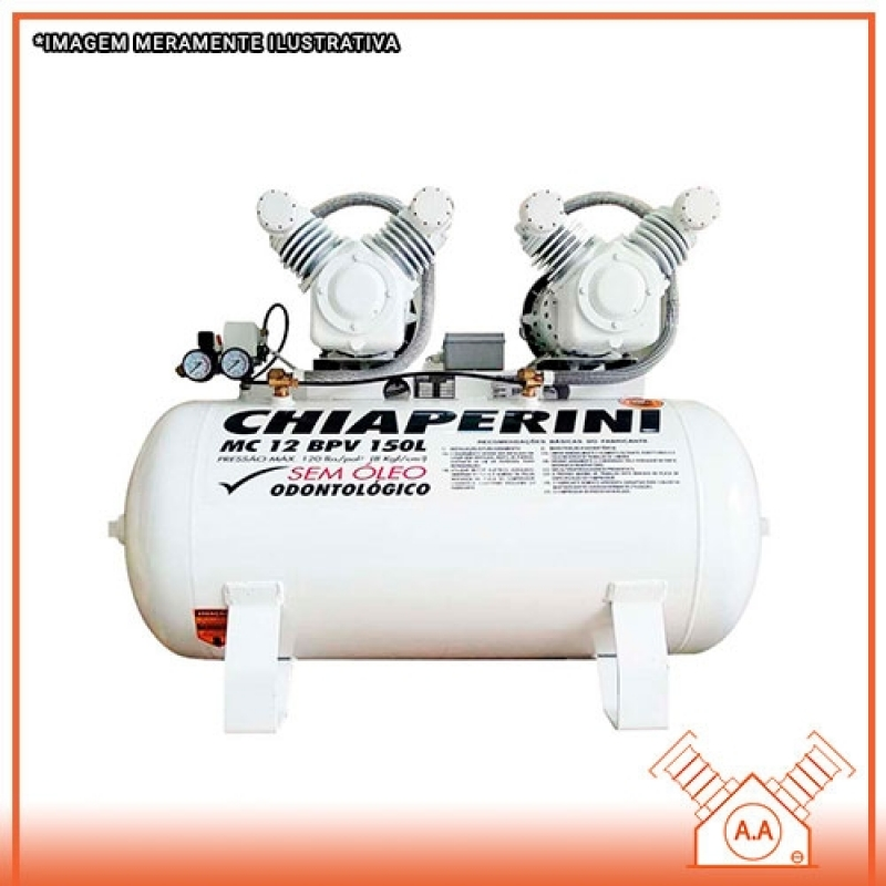 Projeto para Compressor Odontológico 120 Litros Bertioga - Compressor Odontológico para 2 Consultórios